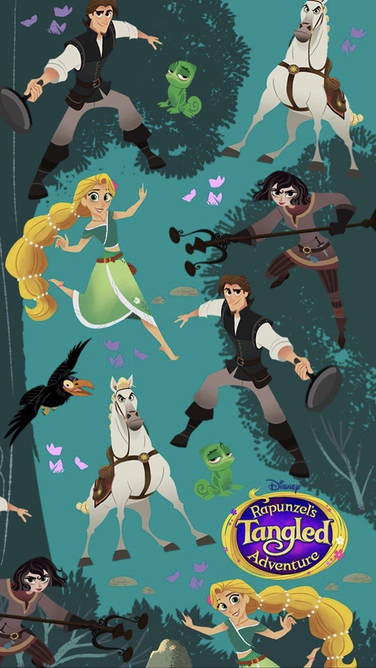 Rapunzels Tangled Adventure wallpaper Tangled wallpaper Disney 750x1334