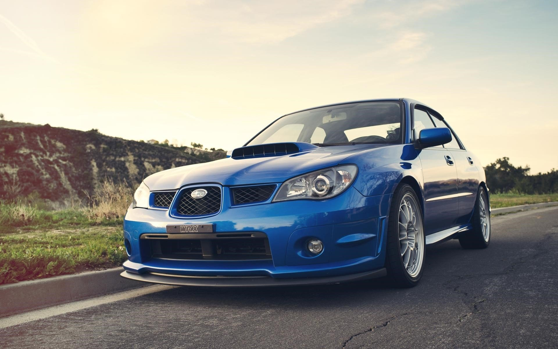 Subaru Impreza WRX Blue Car Wallpapers HD Wallpapers 1920x1200