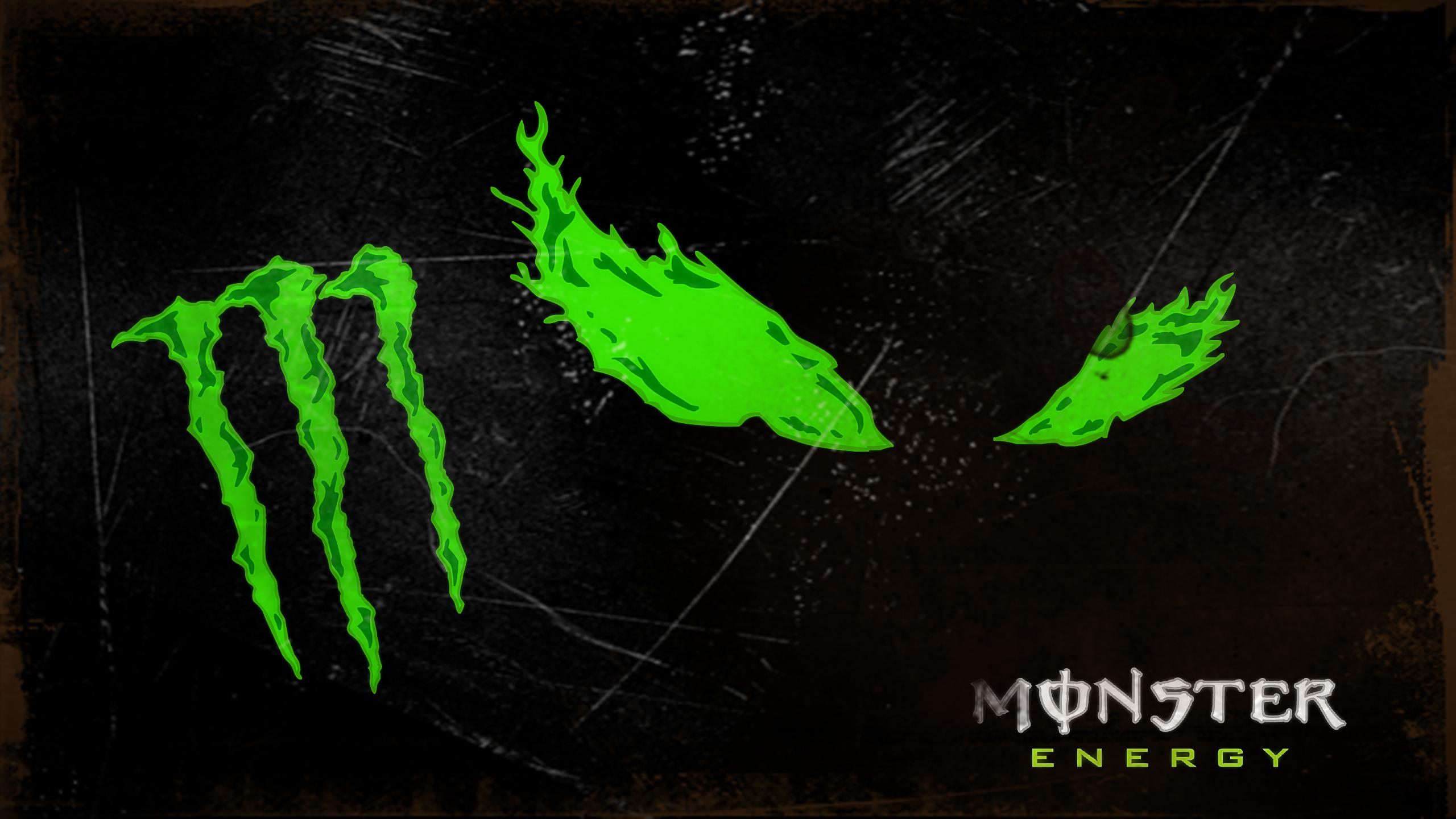 Monster Energy Logo Wallpaper Image Wallpaper WallpaperLepi 2560x1440