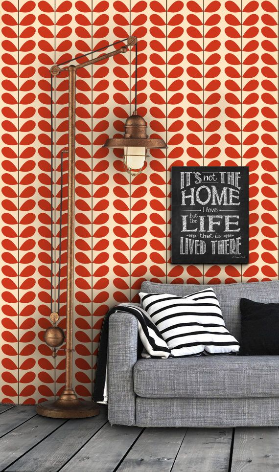 Geometric Leaf Pattern Self Adhesive Vinyl Wallpaper di Livettes 34 570x965