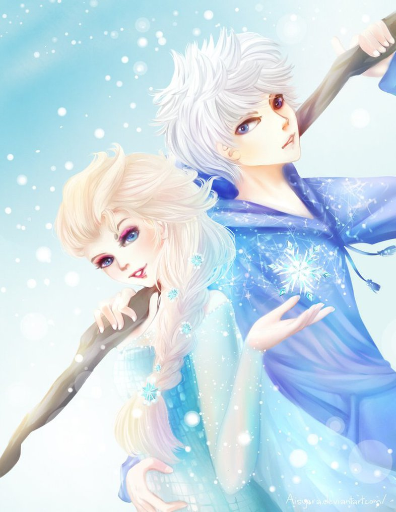 elsa and jack frost wallpapers wallpapersafari