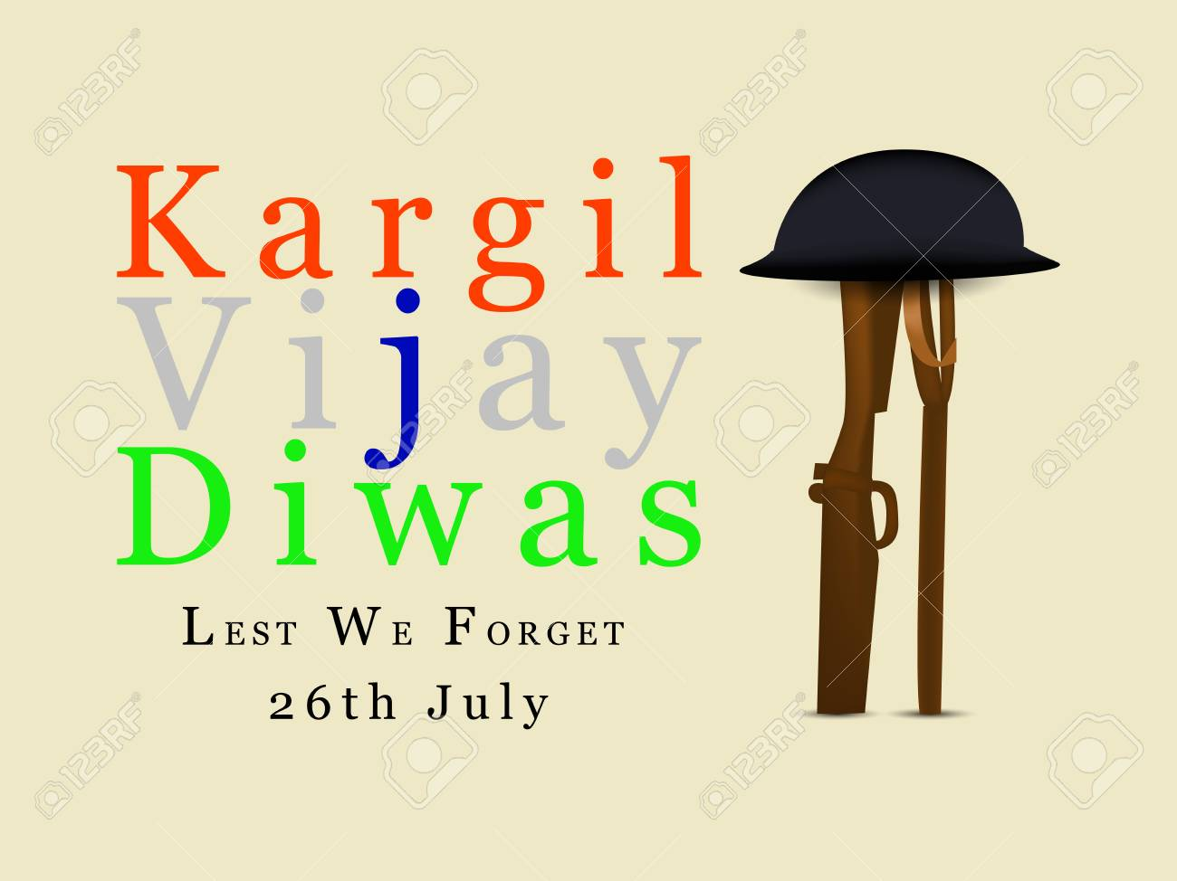 Illustration Of Kargil Vijay Diwas Background It Is Celebrated 1300x974