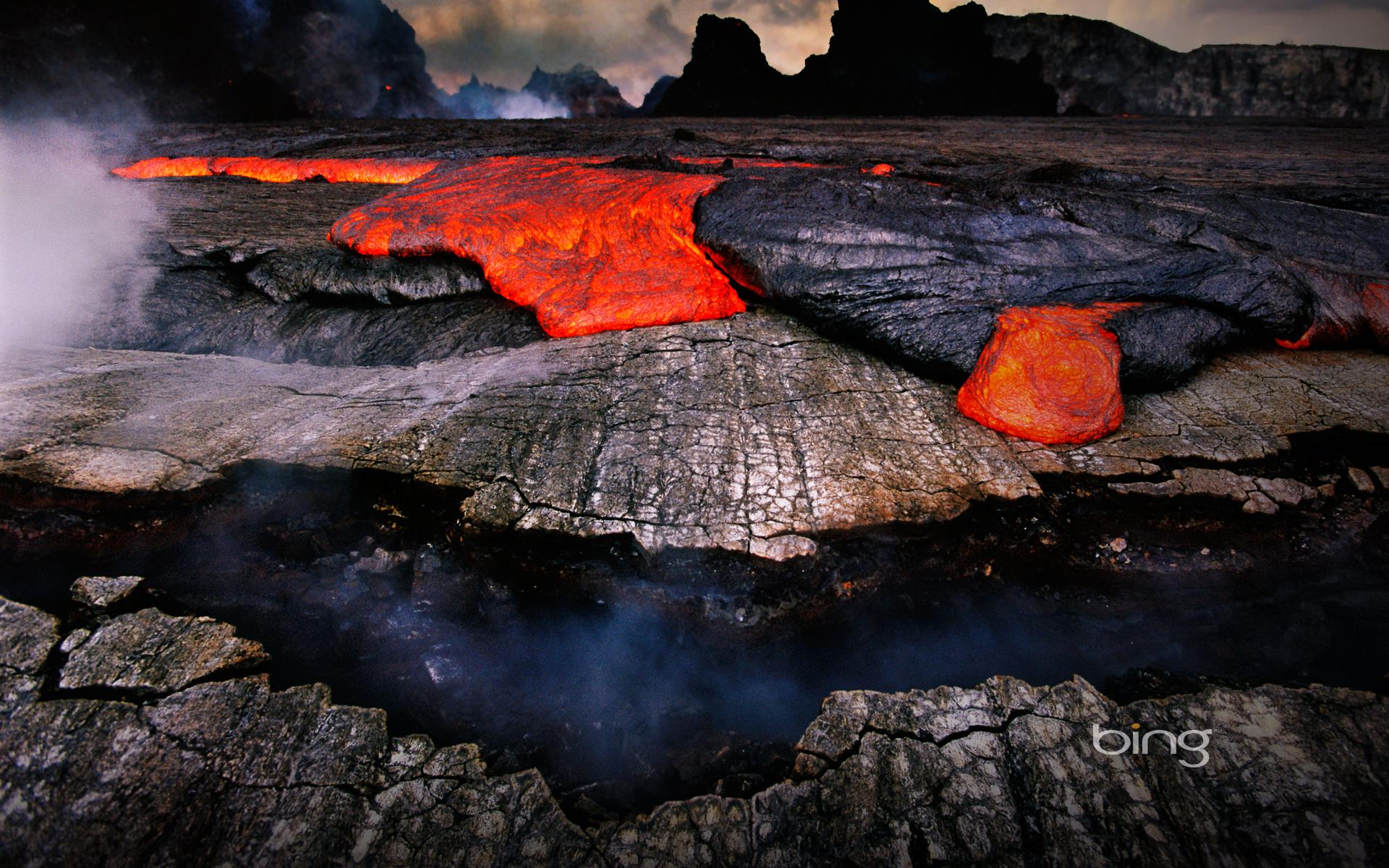 Volcano Of Bing Hawaii Lava Windowstheme Wallpaper with 19201200 1920x1200