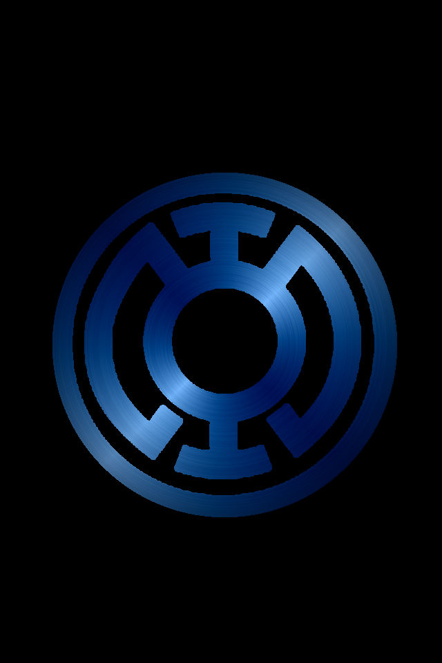 Blue Lantern Symbol Wallpaper Blue lantern background by 640x960