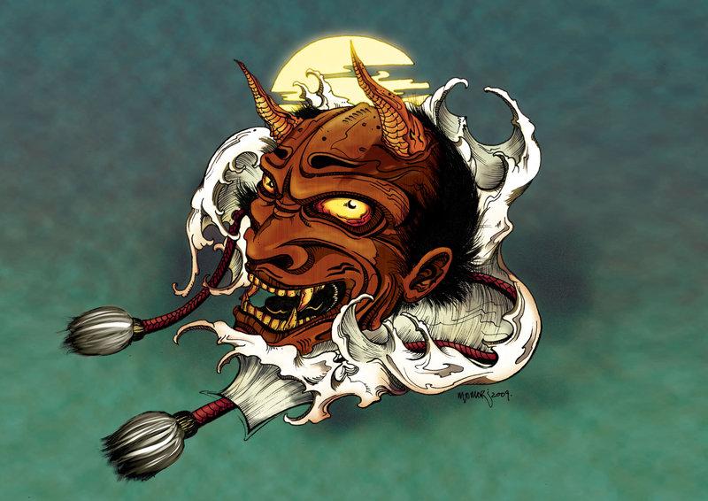 Oni Mask Wallpaper - WallpaperSafari