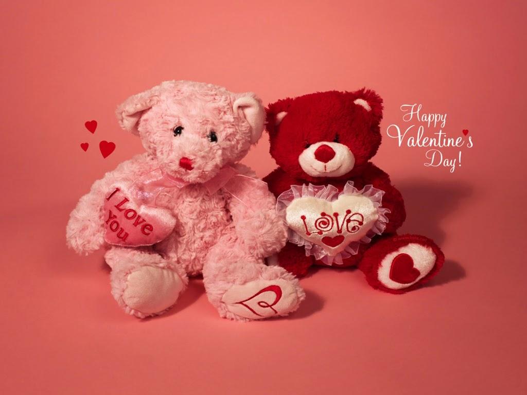 Cute Teddy Bear Wallpaper For Valentine Day   HD Wallpaper 1024x768