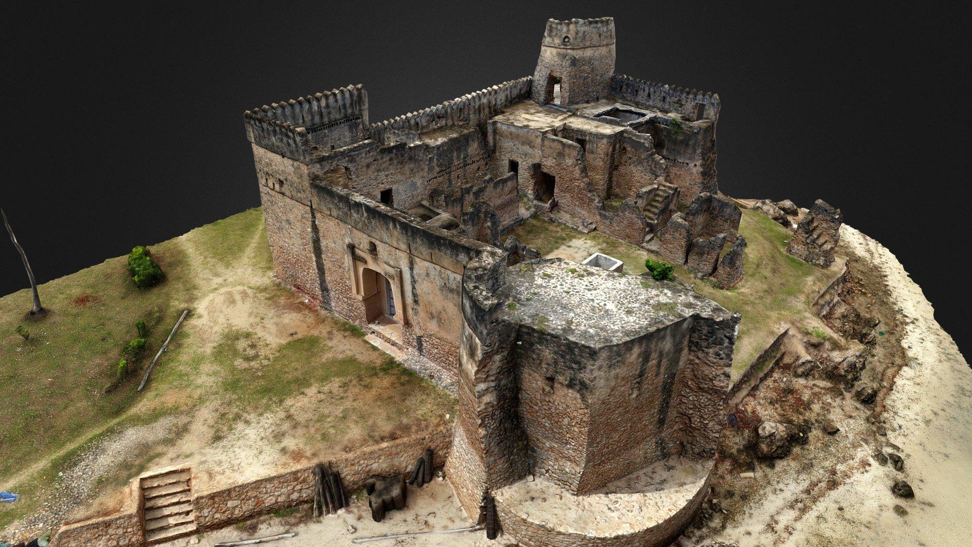 Gerezani fort Kilwa Kisiwani Tanzania   Download 3D model 1920x1080