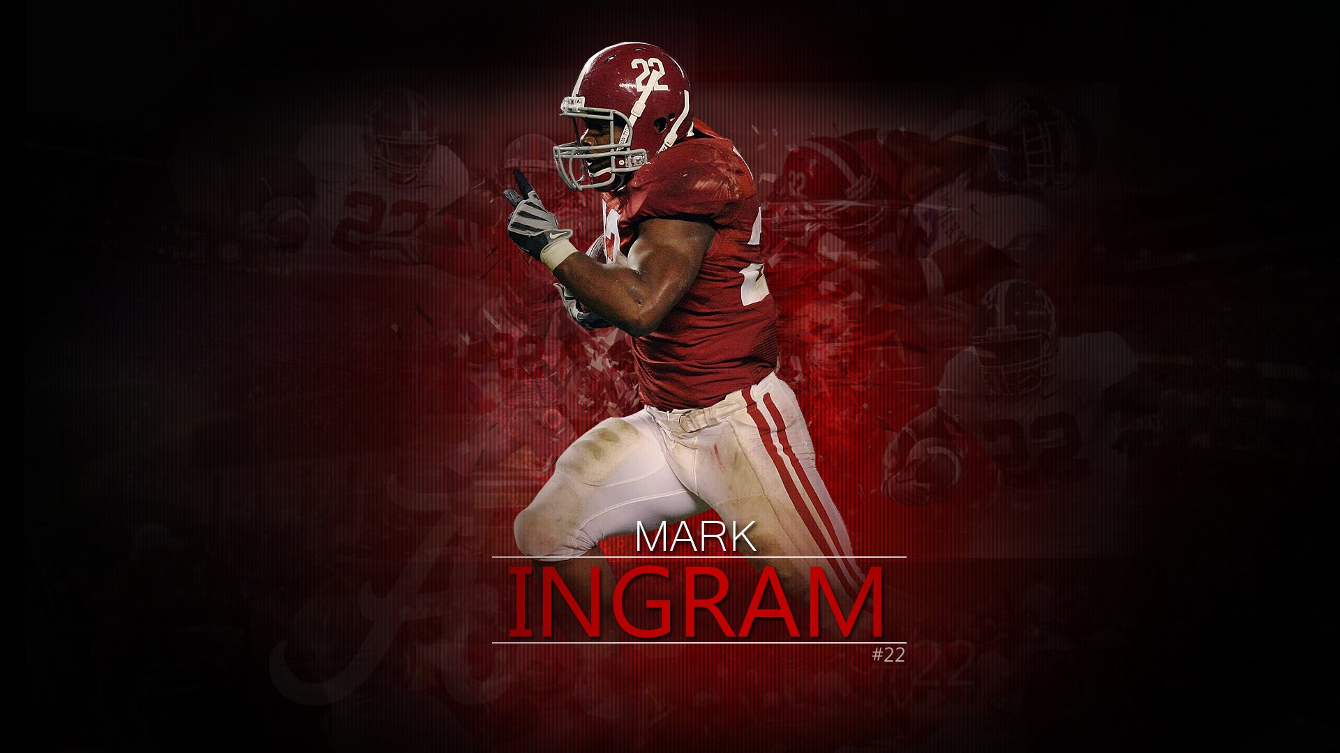 wallpapers desktop football crimson ingram alabamajpg 1920x1080