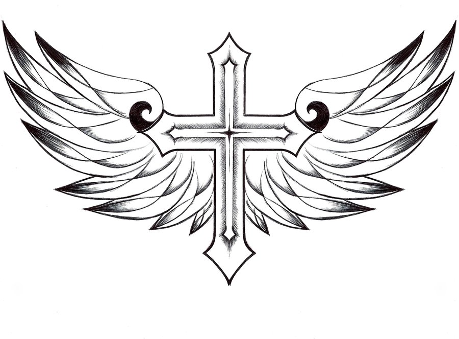 Cross with Wings Wallpaper - WallpaperSafari