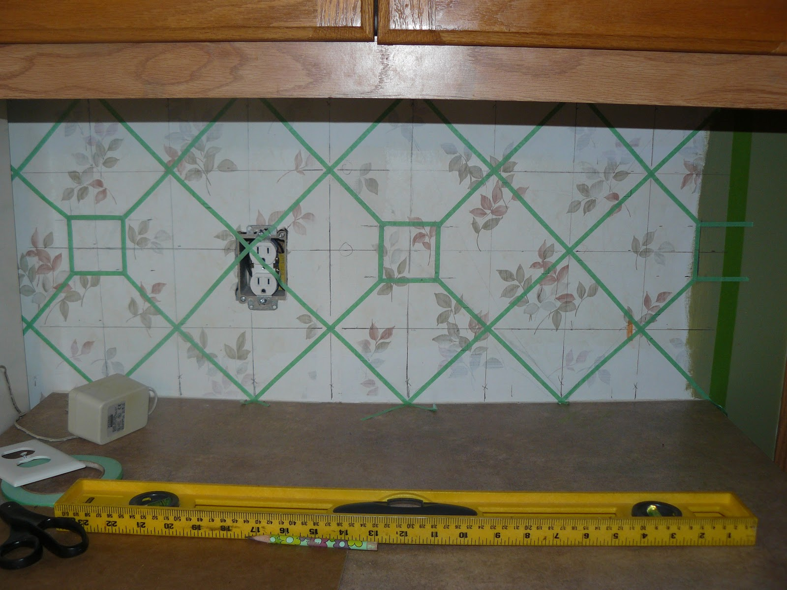 Abide in me and I in you Faux Tile Backsplash Project 1600x1200