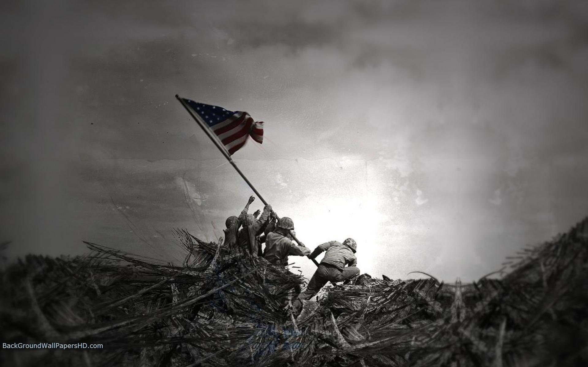 USA Flag Patriots Day Border Wallpaper 1920x1200