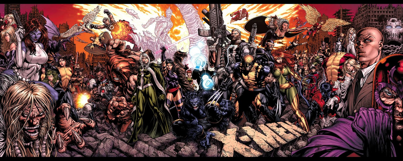 Download All Marvel Comics Together HD Desktop WallpapersHigh 1600x640