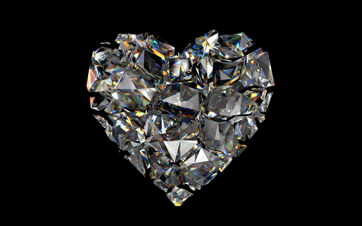 Homepage 3D And Abstract Diamond Heart Wallpaper