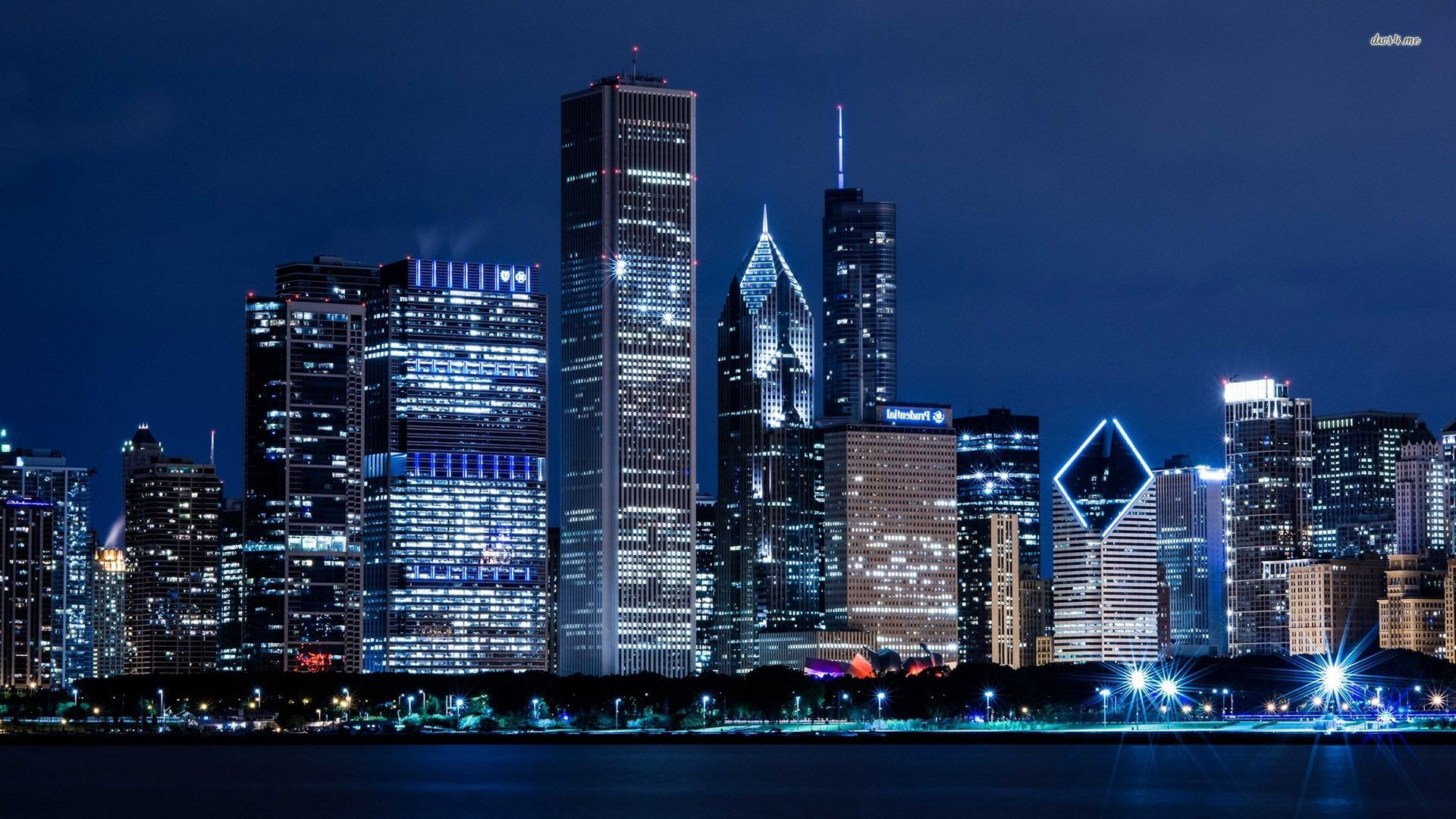 Free chicago skyline wallpaper wallpapersafari - Chicago skyline wallpaper 1920x1080 ...