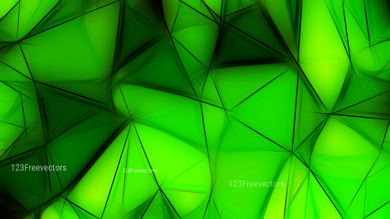 Abstract Cool Green Fractal Wallpaper Image 1280x720