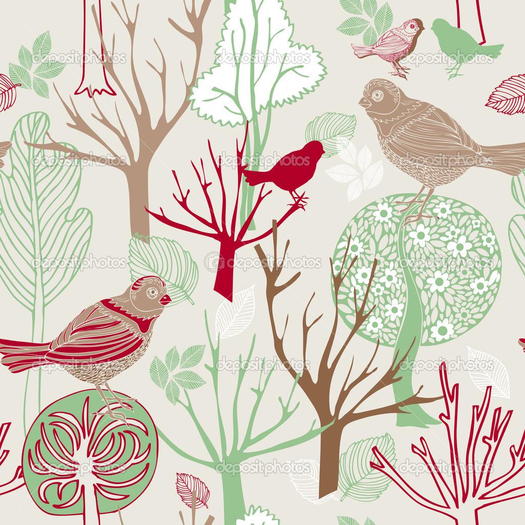 Vintage Bird Background Twitter Wallpapers Gallery 1024x1024