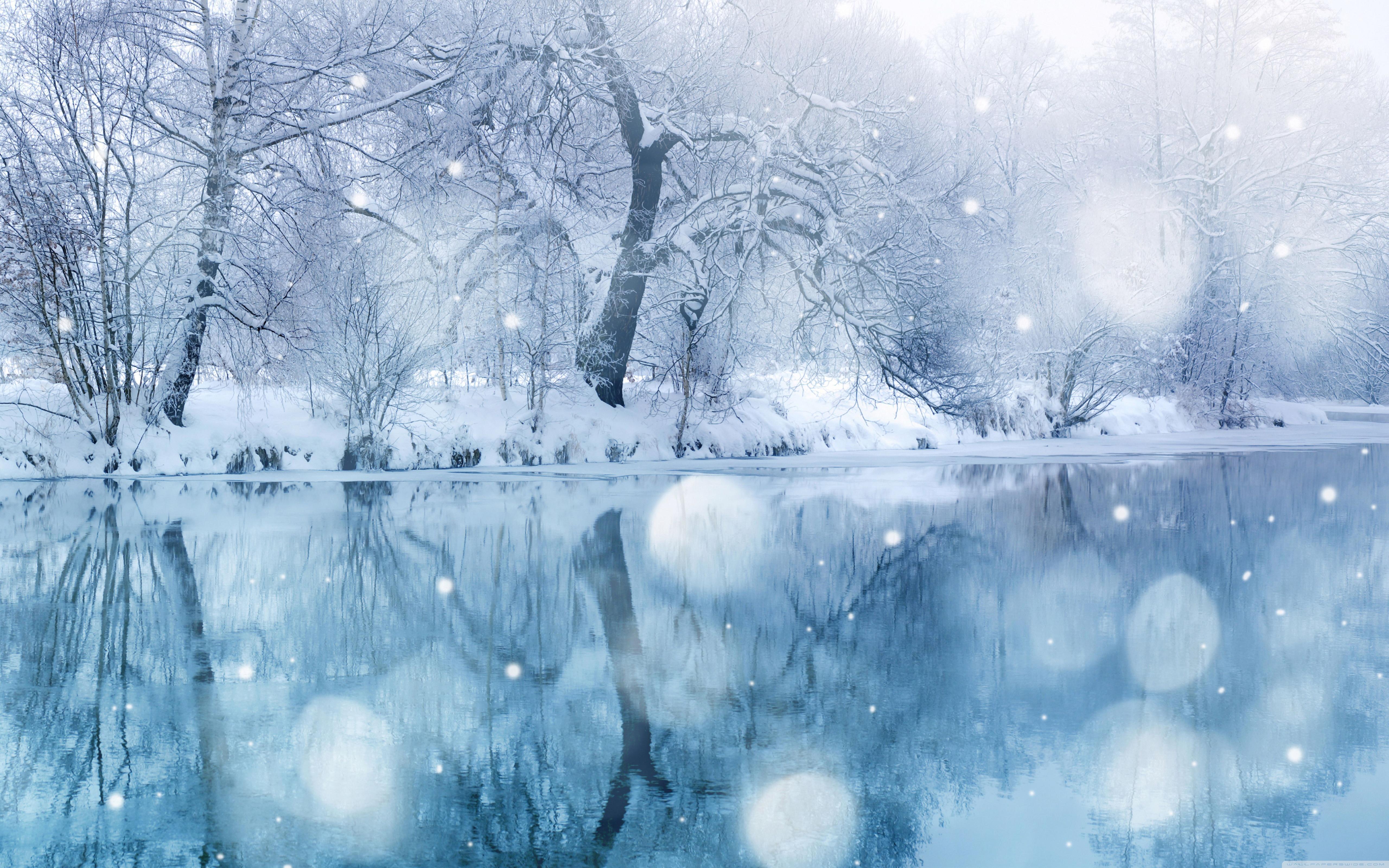 Winter Snowfall 4K HD Desktop Wallpaper for 4K Ultra HD TV 5120x3200