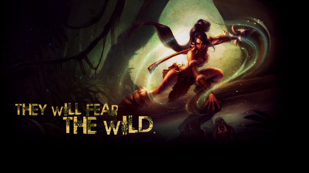 League of Legends Nidalee Wallpaper by psychoVivi 1024x576