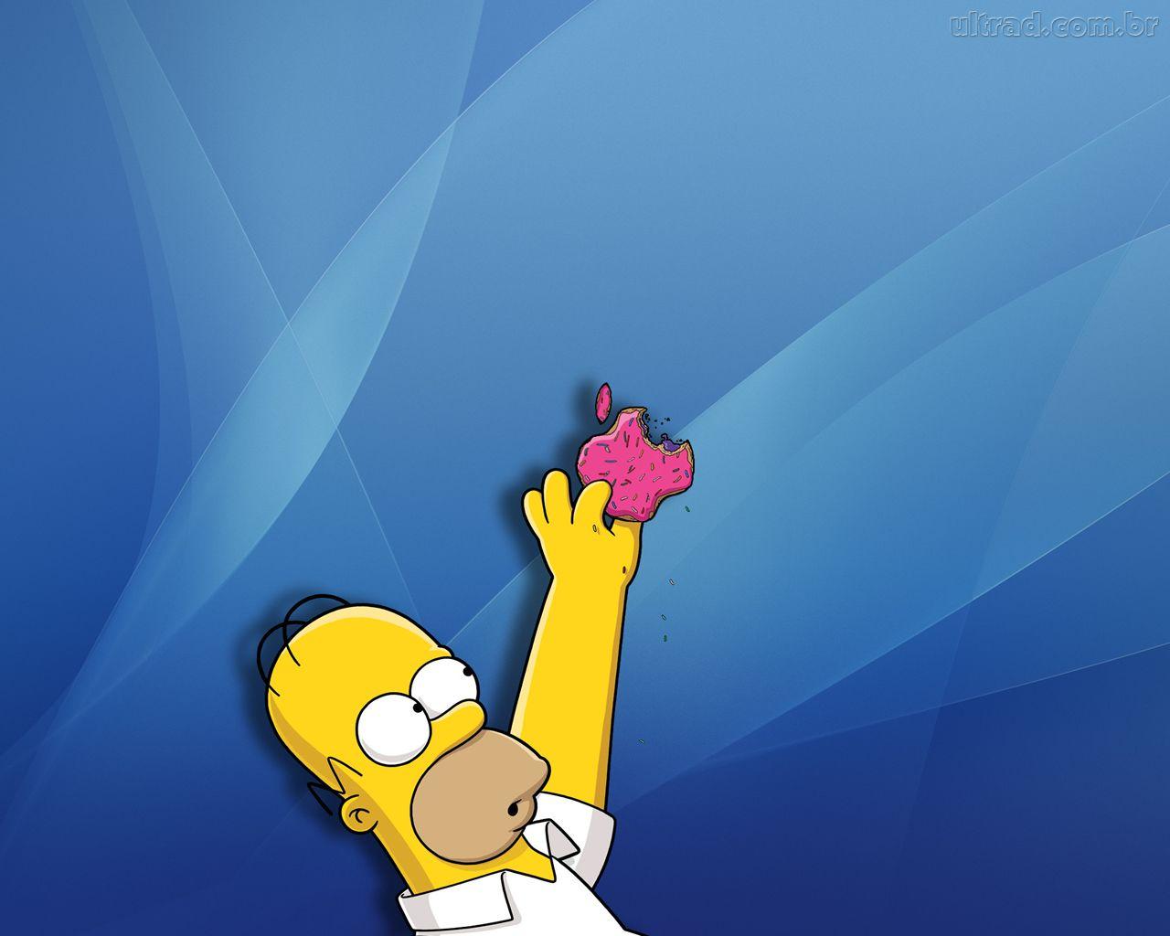 Homer simpson mac wallpaper wallpapersafari for Immagini hd apple
