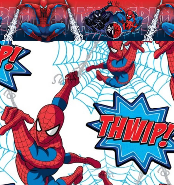 Childrens Rooms Spiderman Spiderman Self Adhesive Bedroom Border 658x700