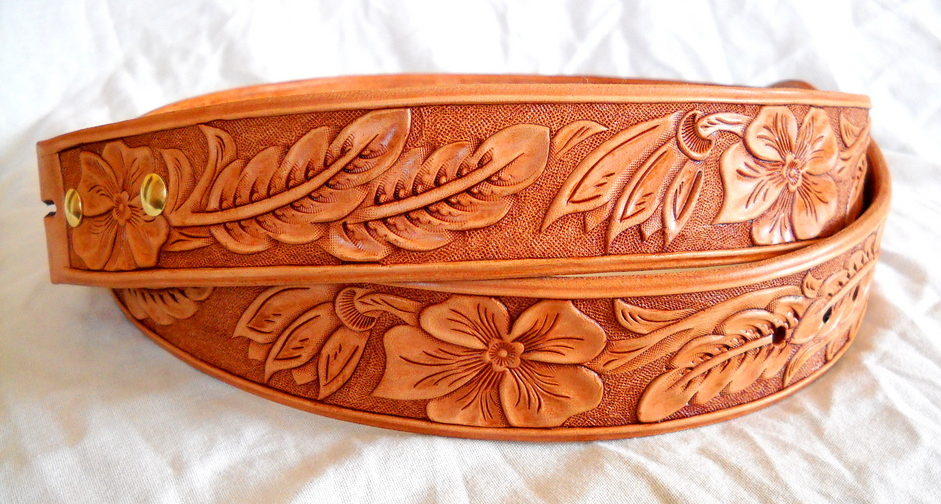 Leather Works 2011 Custom made hand tooled western leather belts 941x504