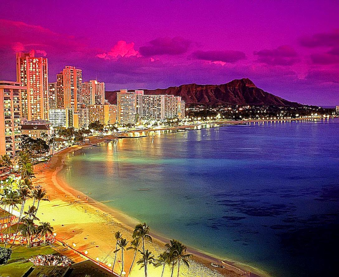 Hawaii Beach Wallpaper Hd Free: Waikiki Beach Desktop Wallpaper