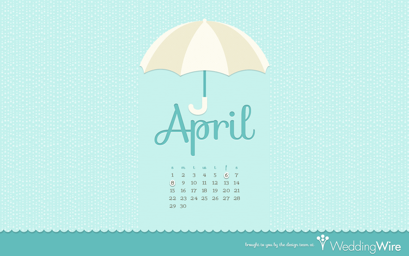 Fun Freebies April Calendar Wallpaper   WeddingWire The Blog 1680x1050