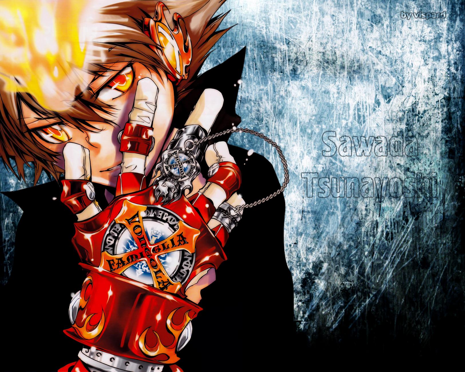 katekyo hitman reborn sawada tsunayoshi HD Wallpaper of Anime Manga 1625x1300
