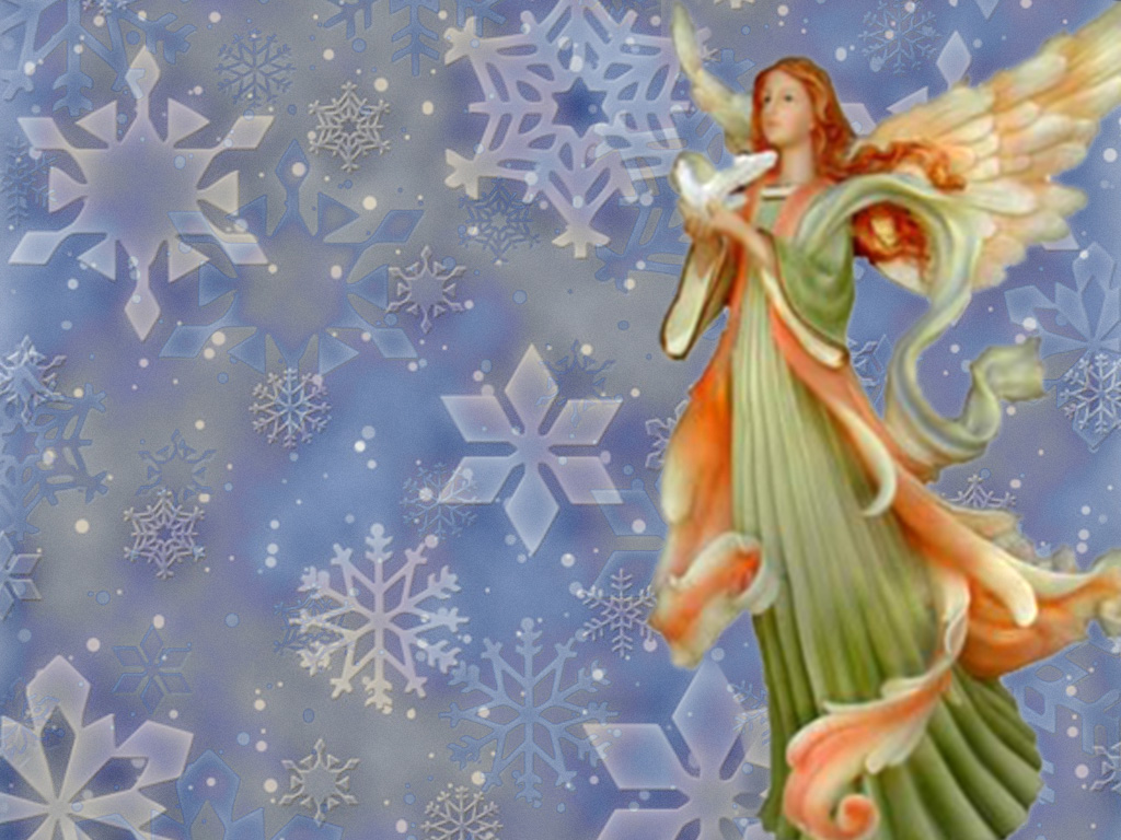 christmas desktop wallpaper Christmas Angel Wallpapers 1024x768