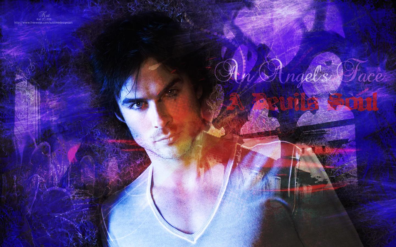 Damon Salvatore Vampire Diaries Wallpaper - WallpaperSafari