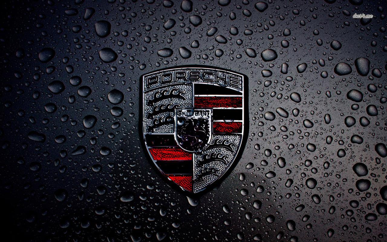 Wet Porsche logo wallpaper   Car wallpapers   14265 1280x800