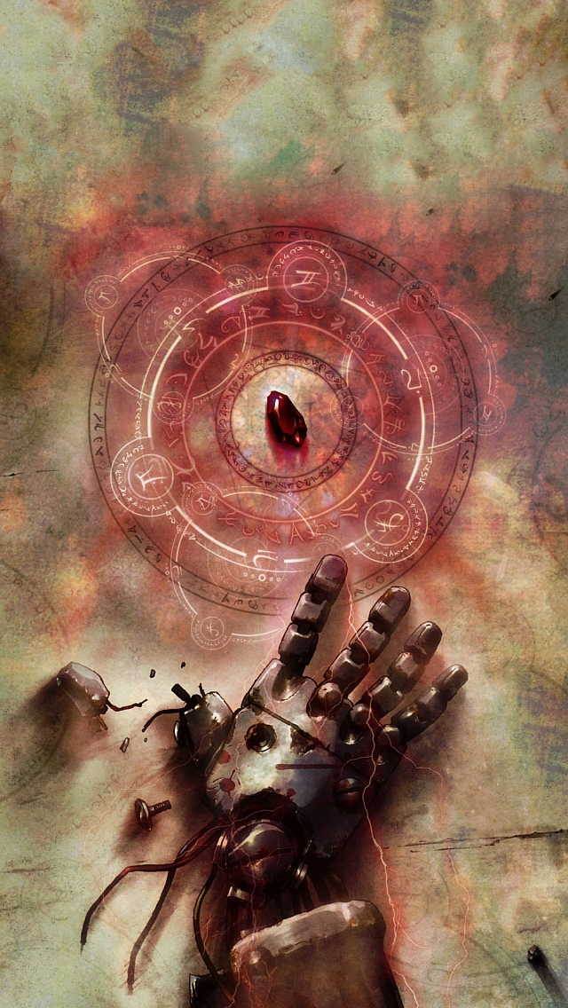 Full metal alchemist iPhone 5 Wallpaper 640x1136 640x1136