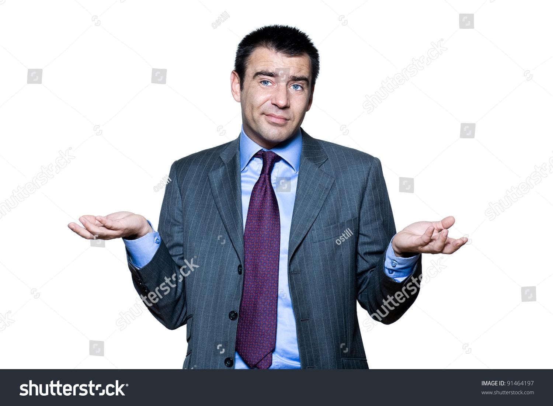 Portrait Ignorant Man Gesturing Studio On Stock Photo Edit Now 1500x1101
