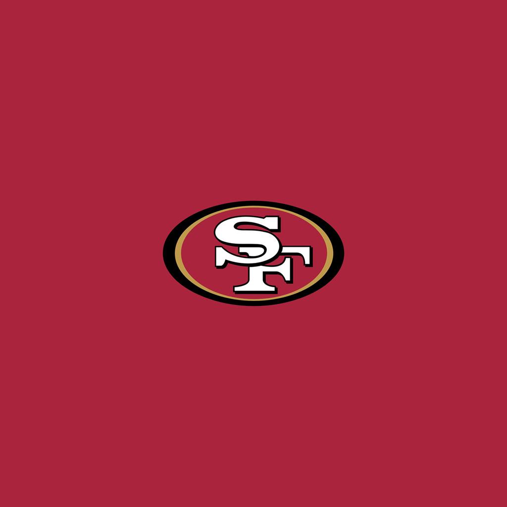 San Francisco 49ers Team Logo iPad Wallpapers Digital Citizen 1024x1024
