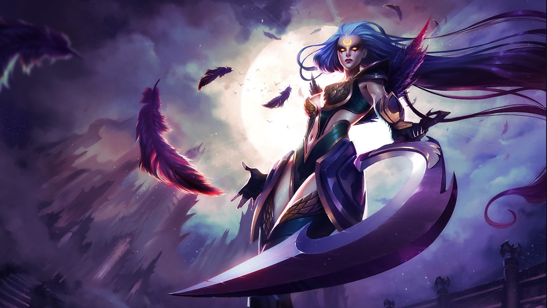 77 Diana League Of Legends HD Wallpapers Background Images 1920x1080