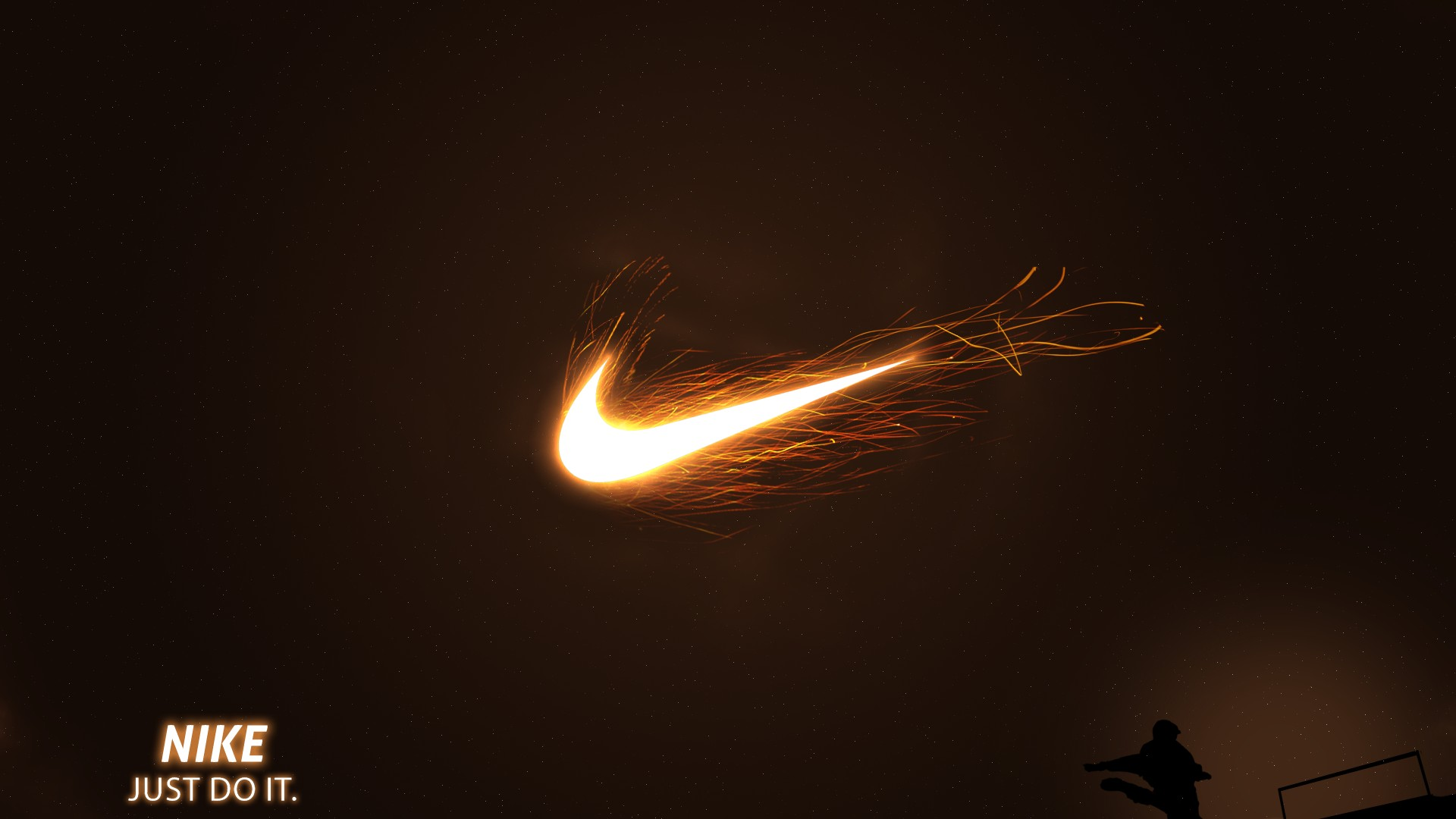 Nike Just Do It Fire Football 1920x1080 HD Sport 1920x1080