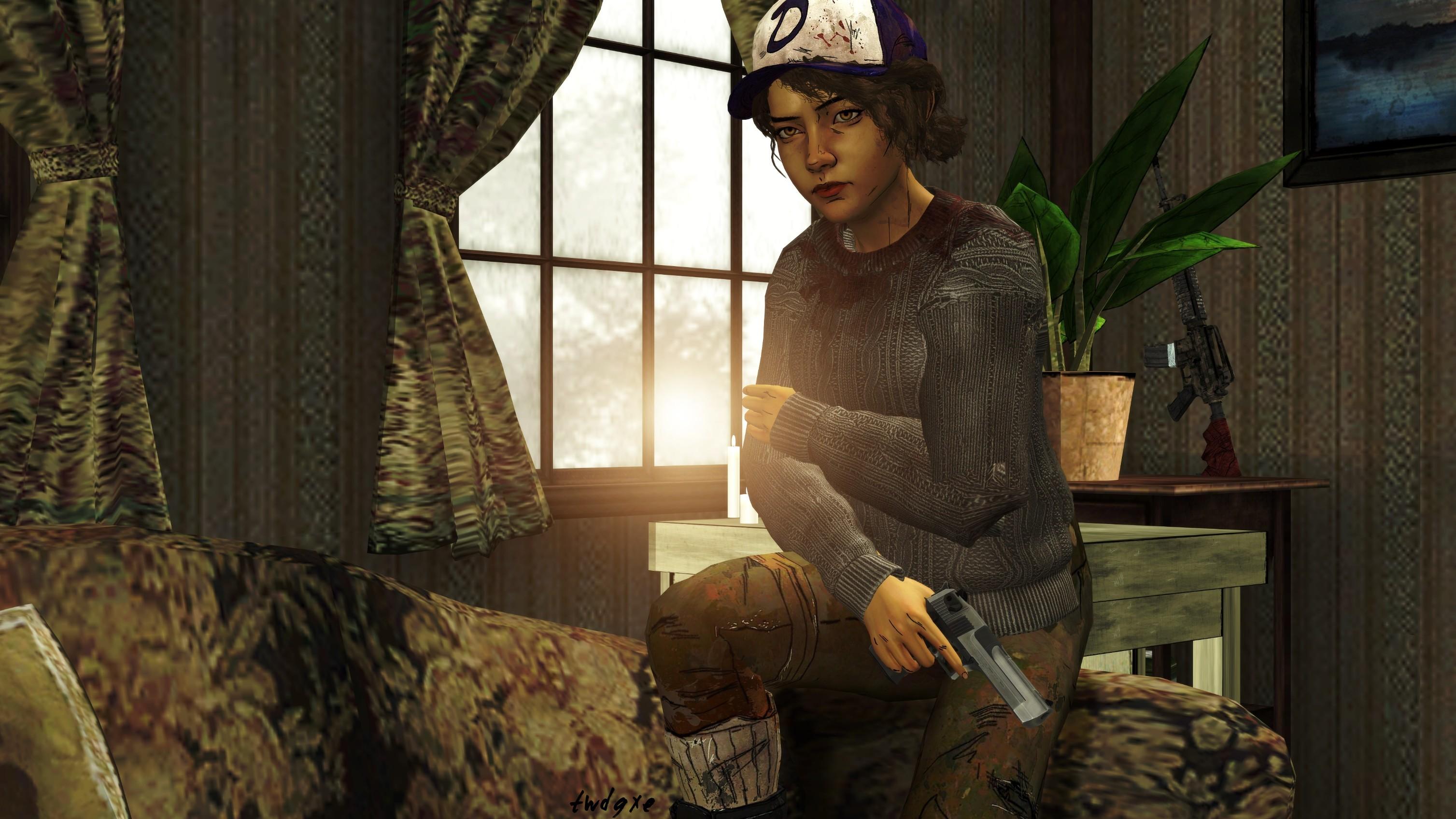 The Walking Dead   Clementine Sweater Wallpaper by xtwdg 3015x1696