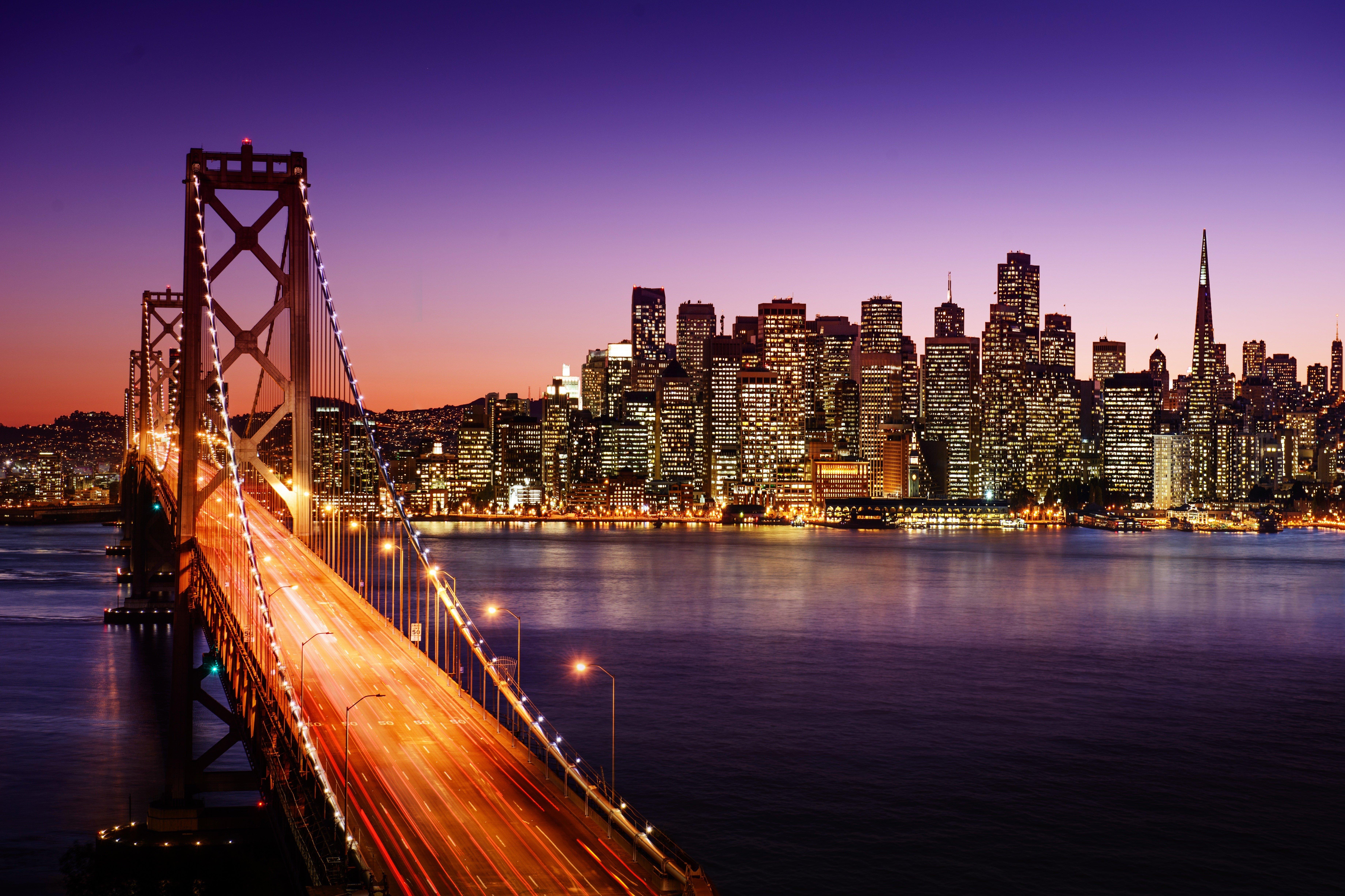 Evening Crossing, Bay Bridge, San Francisco, California  № 3720949 загрузить