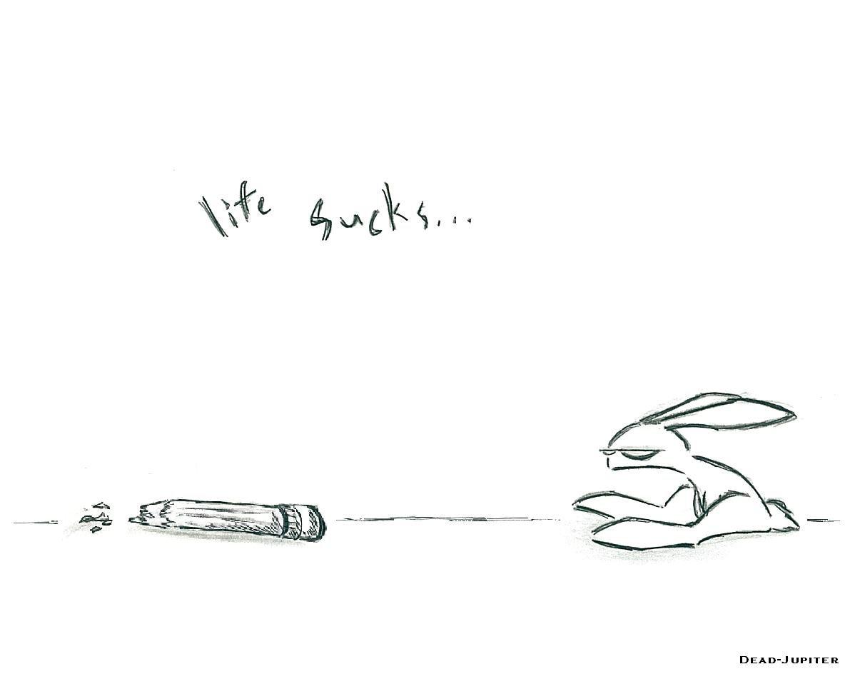 life sucks bunny wallpaper by dead jupiter 1212x958