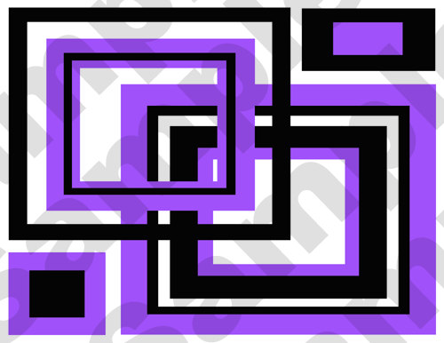 PURPLE ABSTRACT SQUARES Wallpaper Border Wall Decals Modern Geometric 500x386