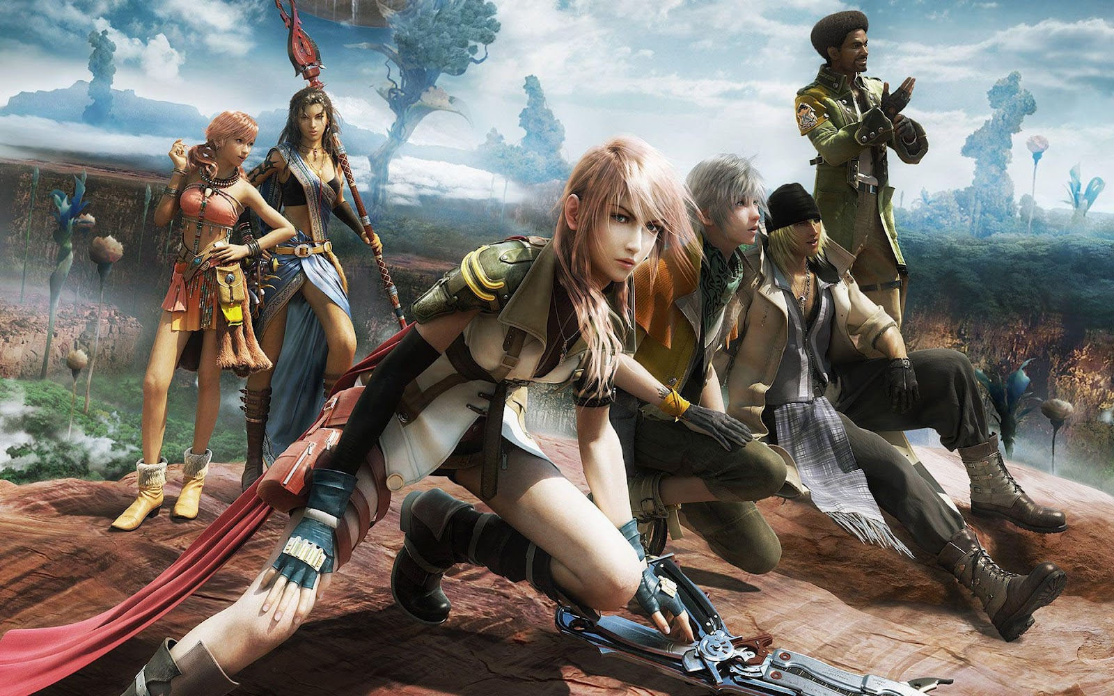 hd game wallpaper final fantasy xiii hd final fantasy achtergrondjpg 1600x1000