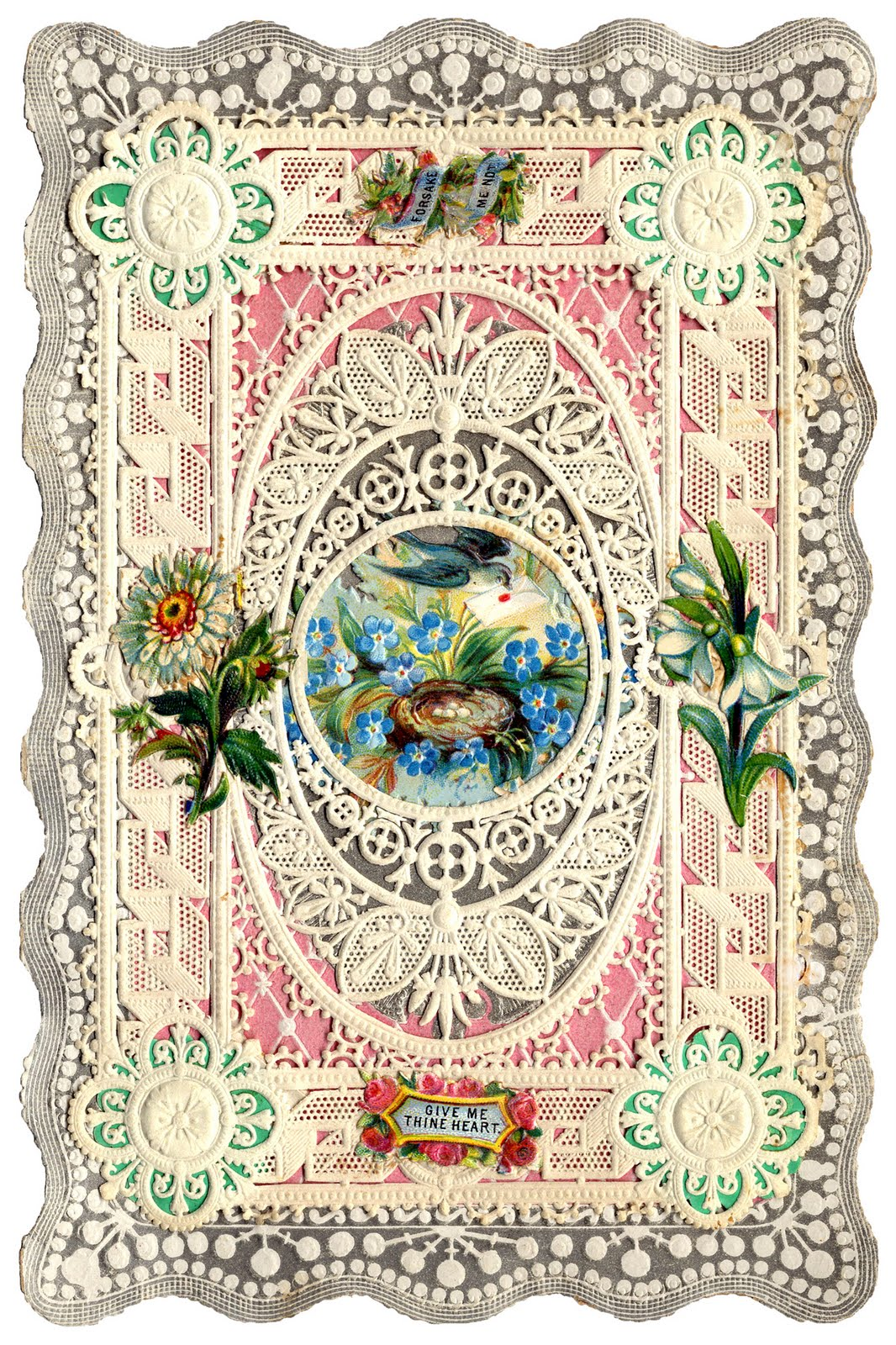 Antique Valentines   Bunnies Birds and Butterflies   The Graphics 1066x1600