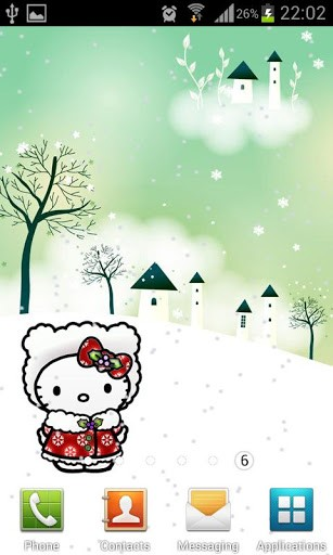 Winter Hello Kitty Holidays App for Android 307x512