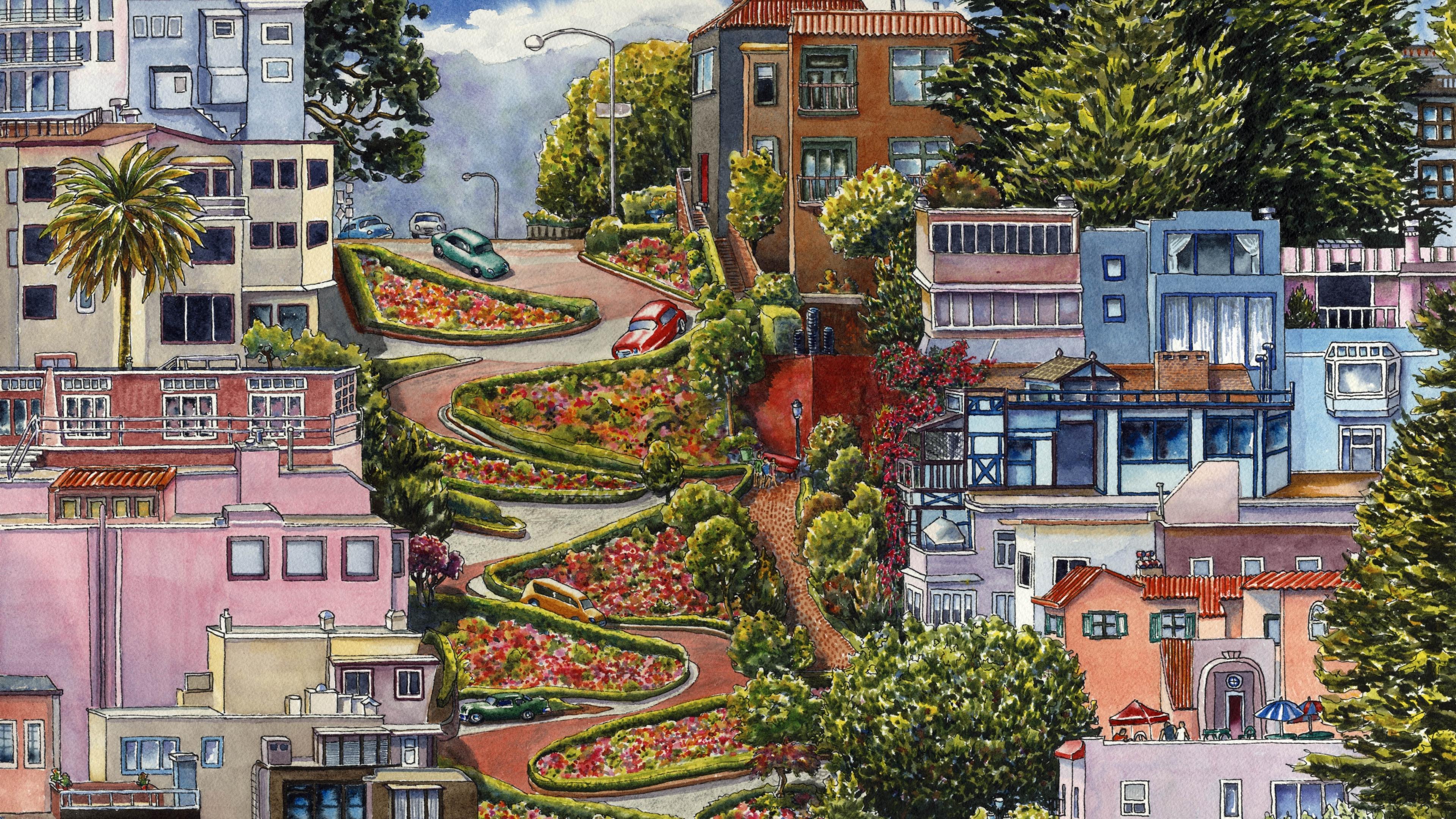 Painting San Francisco Background Image