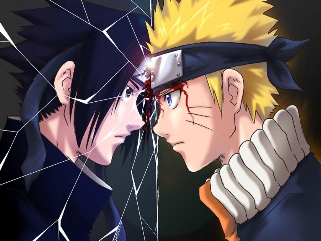Uzumaki Naruto and Uchiha Sasuke HD Wallpaper 1024x768