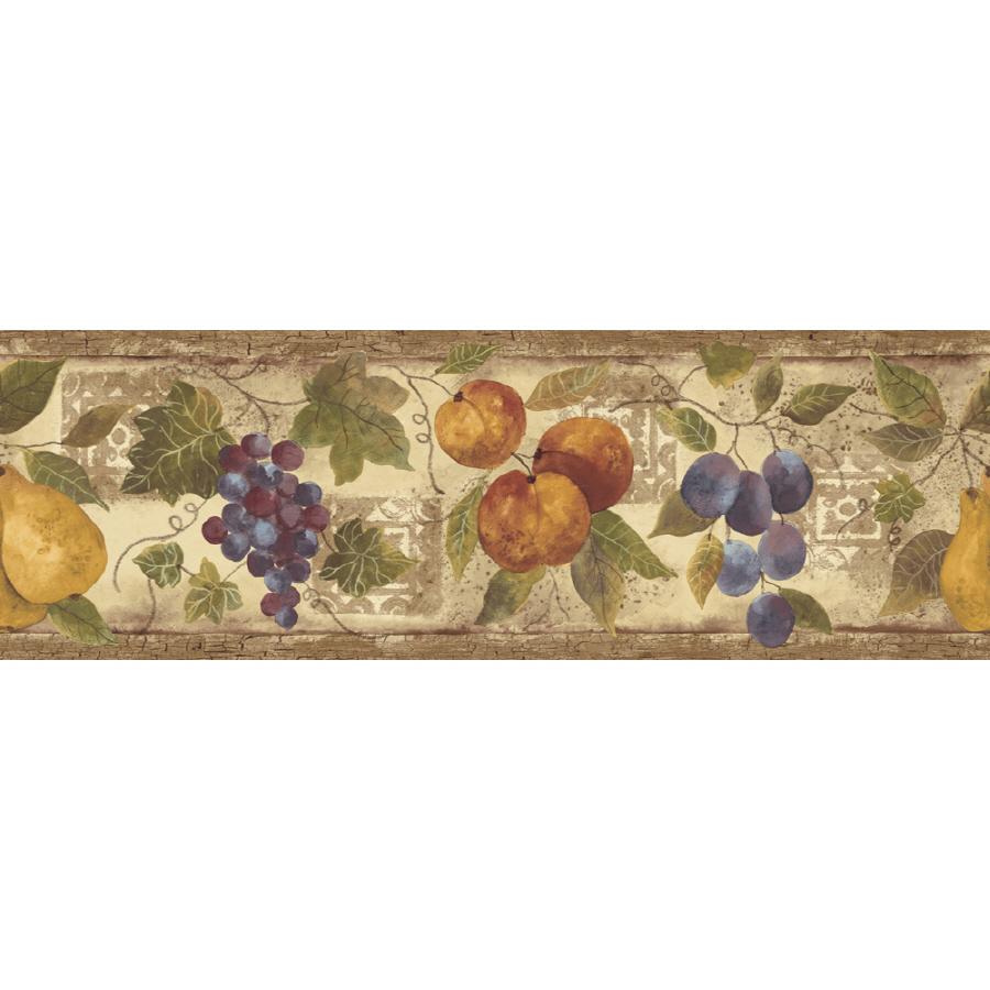 Abundance Of Fruit Prepasted Wallpaper Border at Lowescom 900x900
