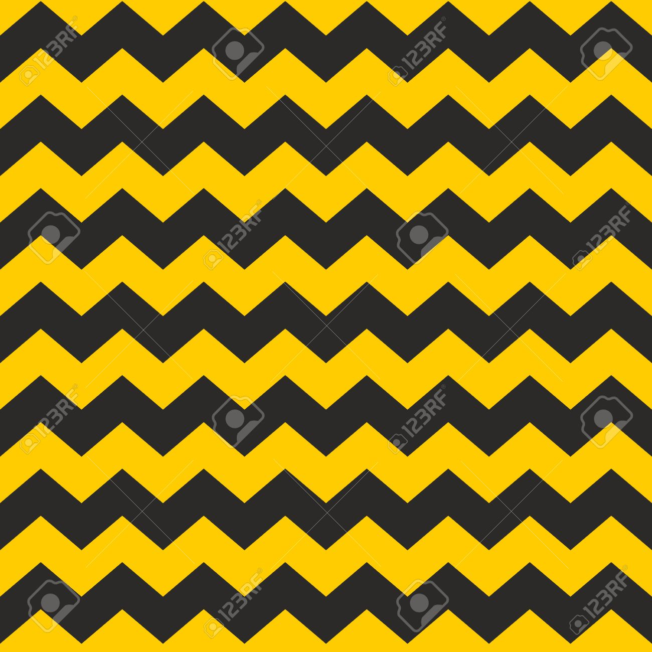 Zig Zag Chevron Black And Yellow Tile Vector Pattern Or Wallpaper 1300x1300