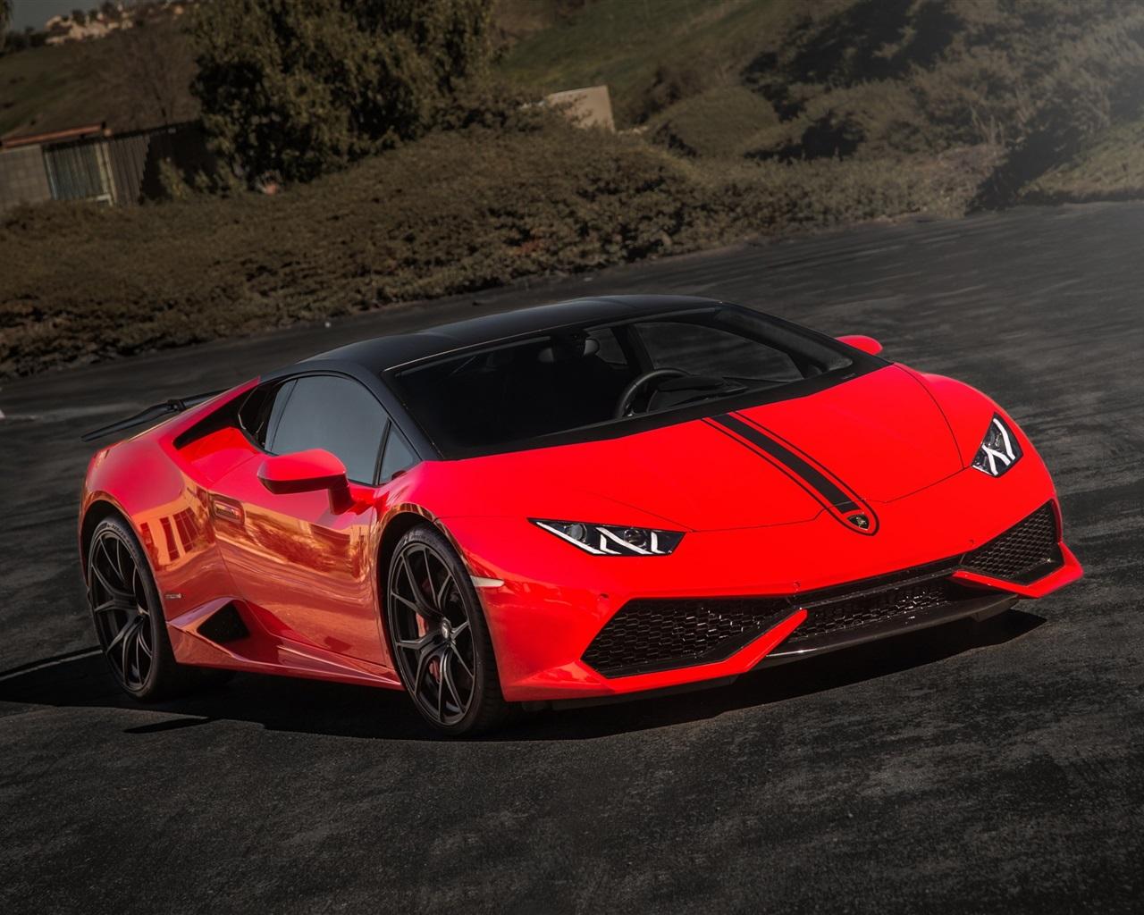 Lamborghini Huracan supercar rouge Fonds dcran 1280x1024 Fonds d 1280x1024
