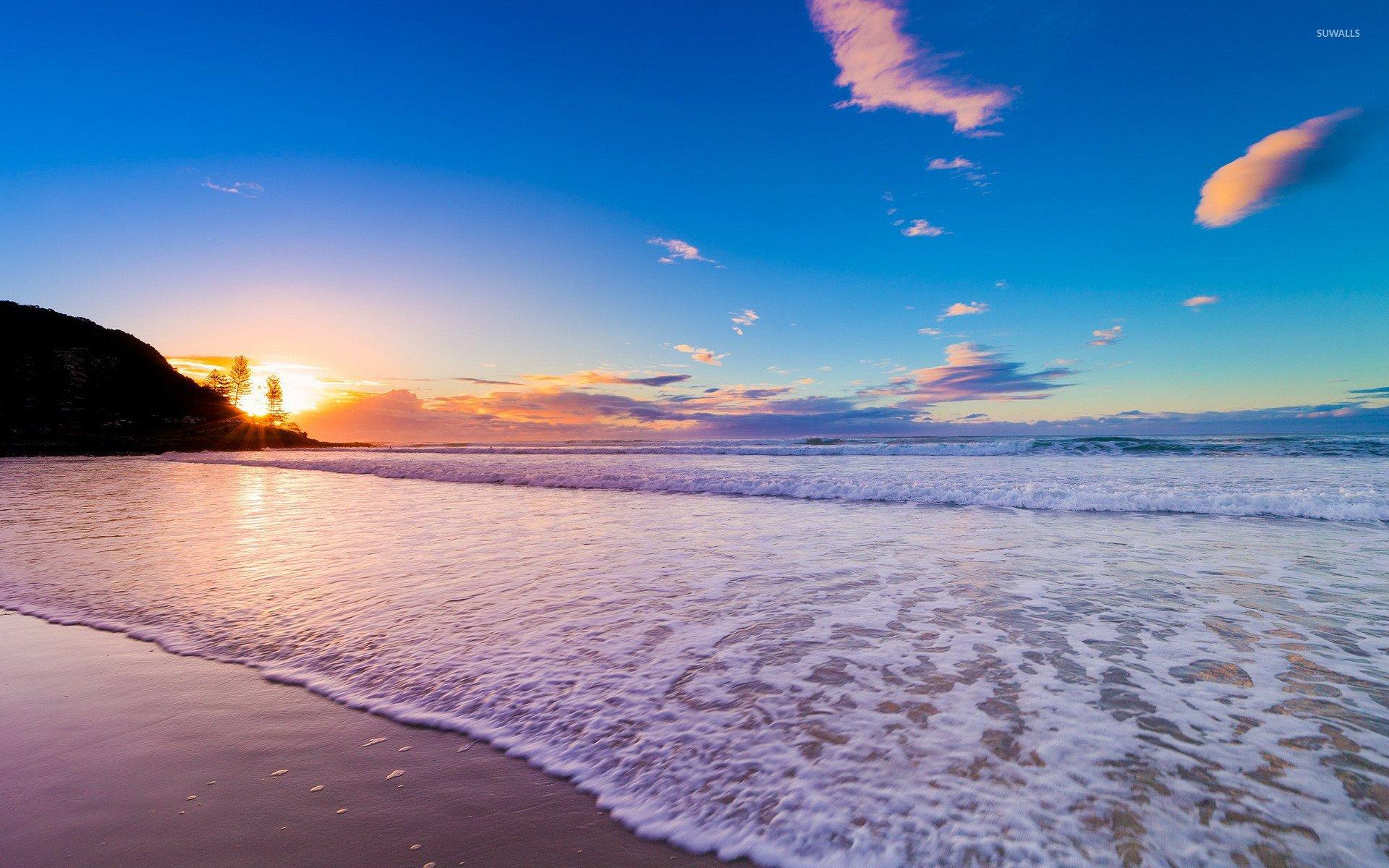 Sunset on the beach wallpaper   Beach wallpapers   17700 1920x1200