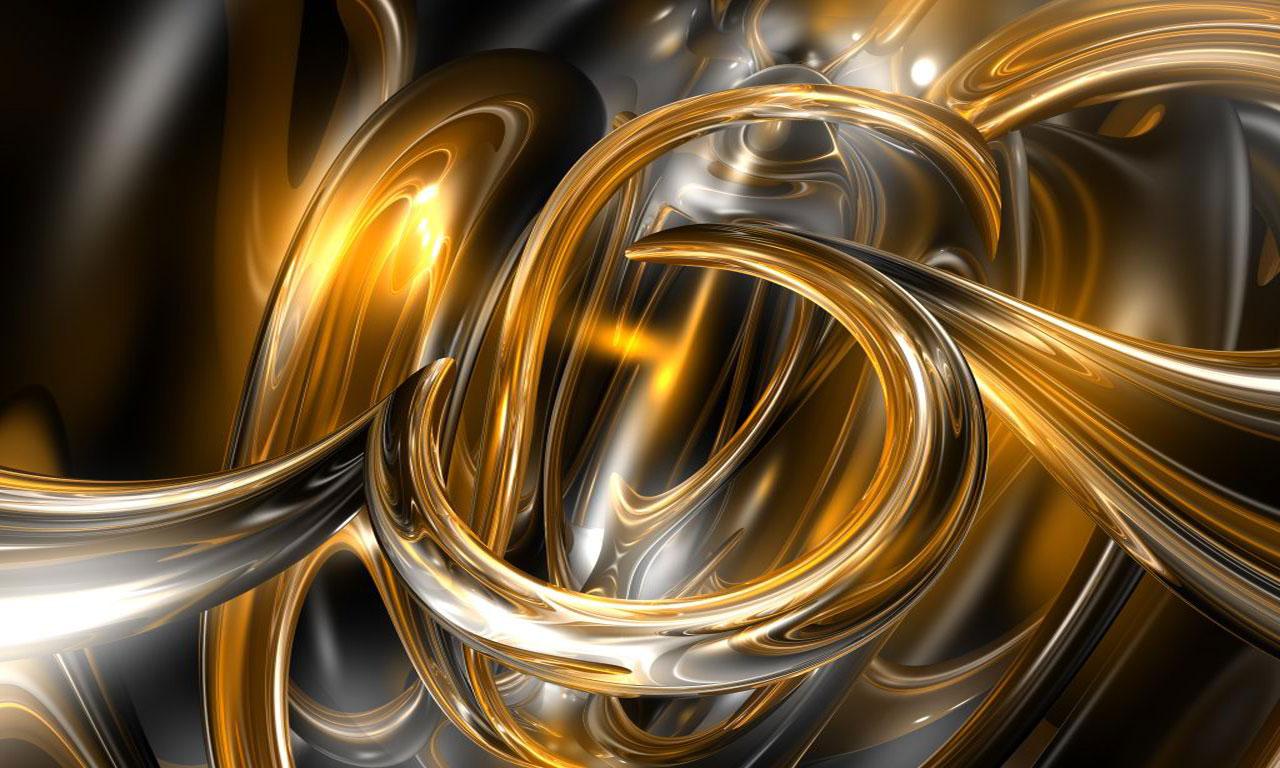 Gold abstract wallpaper wallpapersafari for 3d wallpaper gold